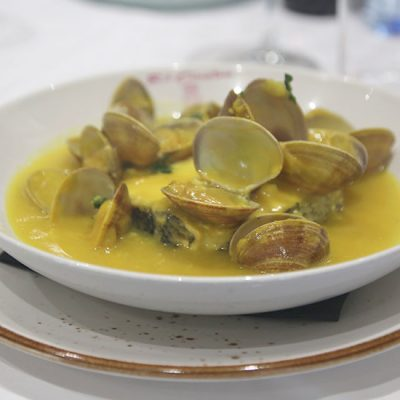 Restaurante El Acebo, Degustación Almejas